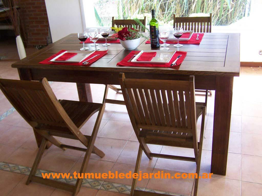 Mesas para comedor for Comedor para jardin